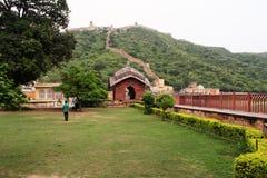下来Dalaram庭院琥珀色的堡垒 库存照片