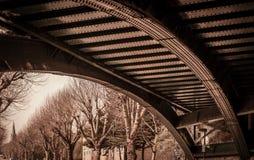 下桥梁铁路 库存图片