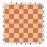 下棋比赛的棋盘 免版税库存图片