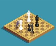 下棋比赛等量概念 皇族释放例证