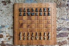 下棋比赛-城堡Velhartice 图库摄影
