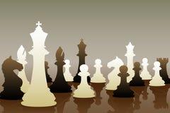下棋比赛 皇族释放例证
