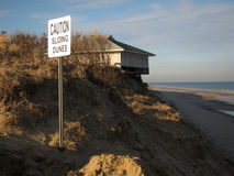 下滑股票的沙丘照片 免版税库存照片