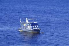 下潜小船在红海 库存照片