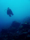 下潜潜水员偏差sabang水肺 库存照片