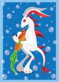 水下的兔子 免版税库存照片