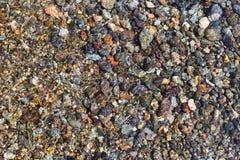 水下的小卵石 库存图片