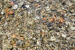 水下的小卵石 免版税图库摄影