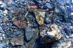 水下的岩石 免版税图库摄影