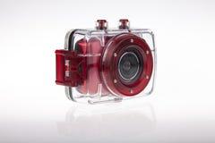 水下的摄象机防水盒 库存照片