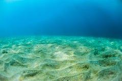 水下的沙子 图库摄影