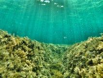 水下的沟槽 库存照片