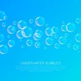 水下的泡影 免版税库存照片