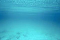 水下的海表面和波纹自然场面 图库摄影