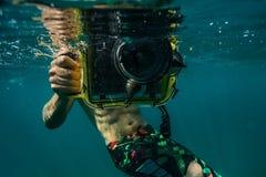 水下的照片 免版税库存图片
