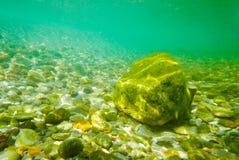 水下的石头背景 库存照片