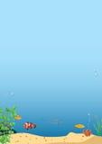 水下的背景的传染媒介图象 库存图片