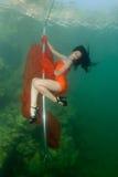 水下的脱衣舞 库存图片