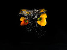 滴下的菜 免版税图库摄影