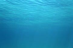 水下的表面波纹在加勒比海 免版税库存图片
