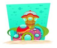 水下的观测所 免版税库存图片