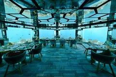 水下的餐馆 免版税库存图片