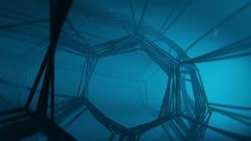 水下的幻想网隧道 抽象3d动画 影视素材