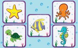 水下的贴纸 库存图片