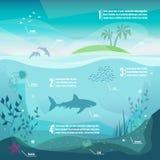 水下的infographics 免版税库存图片
