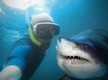 水下的Selfie 免版税库存图片
