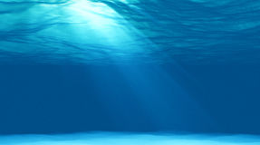 水下美好的场面的光 库存图片