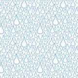下落无缝模式的雨 免版税库存图片