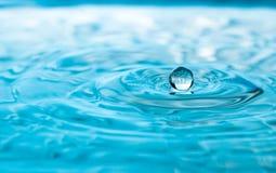下落浮动的水 免版税图库摄影