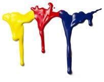 下落液体油漆 免版税库存图片