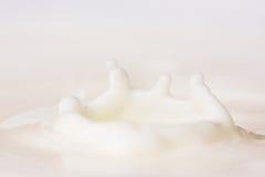 下落牛奶 库存照片