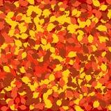 下落的叶子秋天背景 免版税库存照片
