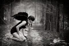 下落的天使 免版税库存图片