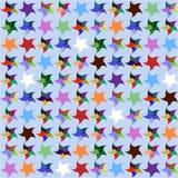 从下落的明亮的星 无缝的模式 免版税库存照片