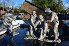 9/11下落的英雄纪念在Ybor市 库存照片
