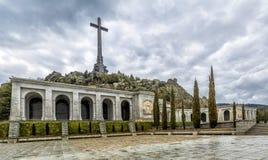 下落的谷(瓦尔de los Caidos),马德里,西班牙 免版税图库摄影
