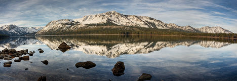 下落的Leaf湖全景 图库摄影