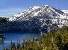 下落的Leaf湖,在加利福尼亚 库存图片