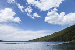 下落的Leaf湖 库存照片