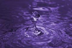 下落紫色 库存照片