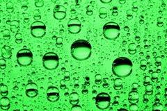 下落绿色水 图库摄影