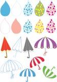 下落雨伞 库存照片