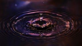 下落冻结的水 免版税图库摄影