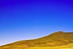 下蓝色五颜六色的无格式天空 库存图片