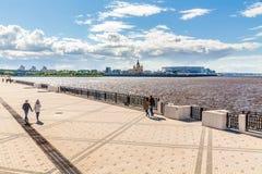 下诺夫哥罗德体育场看法  库存照片