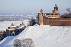 下诺夫哥罗德冬天 库存图片